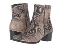 Ecco Shape 35 Snake Print Ankle Boot Sand Women's Boots Beige