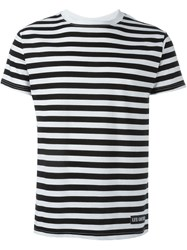 Les Artists Les Art Ists Striped T Shirt Black