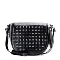 Burberry Clifton Small Leather Shoulder Bag Black