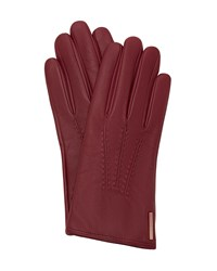 Ted Baker Hollis Metallic Bar Leather Gloves Purple