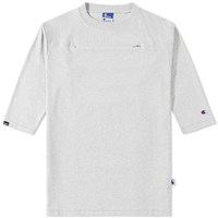Champion X Beams Horizontal Zip Tee Grey