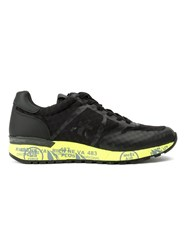 Premiata White 'Lander' Sneakers Black