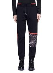 Mcq By Alexander Mcqueen Leopard Print Panel Sweatpants Black Multi Colour