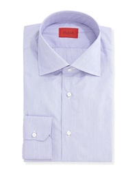 Isaia Micro Stripe Solid Dress Shirt Purple