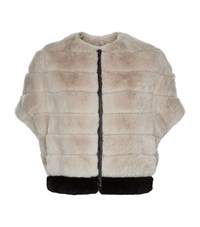 Max Mara Maxmara Weekend Soraia Rabbit Fur Cocoon Jacket Female Pink