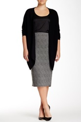 14Th And Union Cashmere Easy Kerchief Cardigan Plus Size Black