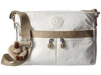 Kipling Angie Laquer Pearl Combo Handbags White