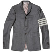 Thom Browne Arm Stripe Flannel Blazer Dark Grey