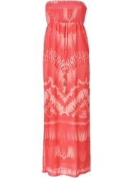 Heidi Klein 'Tahiti' Bandeau Maxi Dress Yellow And Orange