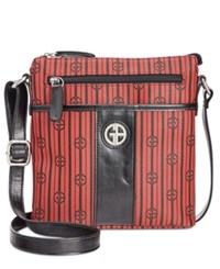 Giani Bernini Stripe Signature Crossbody Only At Macy's Red Black