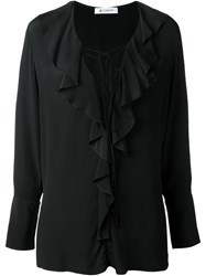 Dondup Flounce Collar Blouse Black