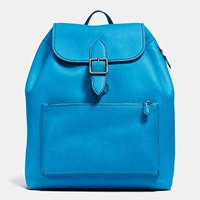 Coach Archival Rucksack In Glovetanned Leather Dark Gunmetal Azure Midnight