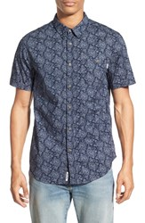 Men's Rhythm 'Banksia' Regular Fit Floral Print Short Sleeve Woven Shirt