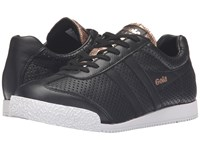 Gola Harrier Glimmer Leather Black Rose Gold Women's Shoes