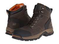 Timberland 6 Stockdale Alloy Safety Toe Dark Brown Microfiber Men's Work Boots