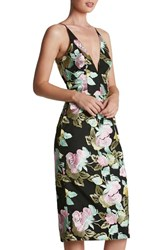 Dress The Population Women's 'Mariah' Embroidered Sheath