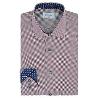 Duchamp Spot Print Slim Fit Shirt Purple