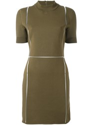 Courreges Fitted Dress Green