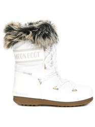 Moon Boot Faux Fur Cuff Boots White