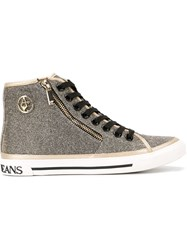 Armani Jeans Hi Top Sneakers Metallic