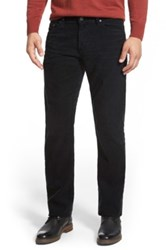 Ag Jeans Graduate Tailored Straight Leg Corduroy Pant Black