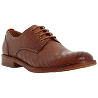 Bertie Rusty Perforated Leather Derby Shoes Tan