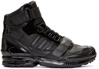 Black Leather High Top Adidas By Juun.J Sneakers