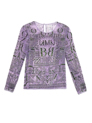 Mary Katrantzou Alphabet Embellished Tulle Top
