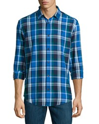 Penguin Long Sleeve Plaid Flannel Sport Shirt Skydiver