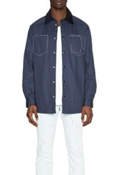 Givenchy Denim Overshirt In Blue