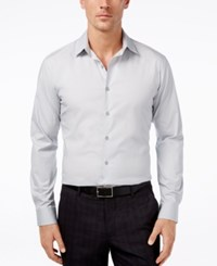 Alfani Spectrum Men's Slim Fit Solid Dress Shirt Only At Macy's Silver