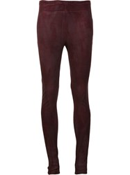 Urban Zen Leather Skinny Trousers Red