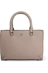 Tory Burch Robinson Micro Textured Leather Tote Mushroom