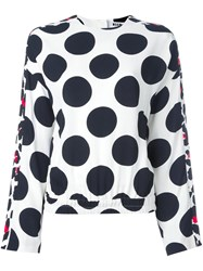 Msgm Polka Dot Blouse White