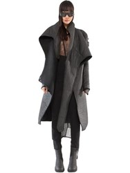 Demobaza Light Being Rubberized Effect Wrap Coat