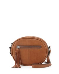 French Connection Jenny Faux Leather Crossbody Bag Nutmeg Brown