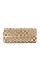 Whiting And Davis Crystal Chevron Clutch Gold
