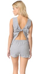 Solid And Striped The Michy Romper Navy Cream Stripe