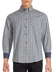 Ben Sherman Tartan Checked Button Down Shirt Moon