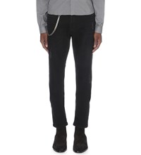 The Kooples Fitted Tapered Jeans Black