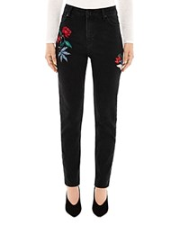 Sandro Maceoplex Embroidered Jeans In Black