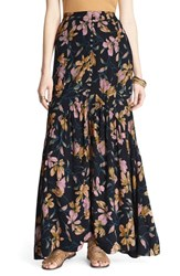 Women's Free People 'Smooth Sailing' Maxi Skirt Onyx Combo