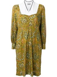Non Tokyo Paisley Print Mid Length Dress Yellow And Orange