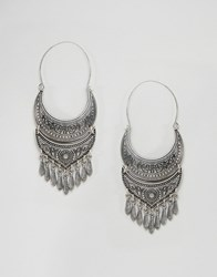 Love Rocks Festival Statement Earrings Silver