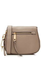 Marc Jacobs Recruit Small Leather Saddle Bag Grey