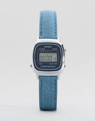 Casio Blue Leather Strap Watch La670wel 2A2ef Blue