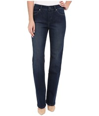 Miraclebody Jeans Six Pocket Abby Straight Leg Jeans In Seattle Blue Seattle Blue Women's Jeans