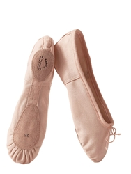 Porselli Split Sole Cotton Canvas Ballet Flats Pink