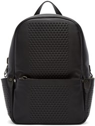 Calvin Klein Black Leather Perforated Medium Backpack