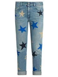 Stella Mccartney Star Print Low Slung Skinny Jeans Denim Multi